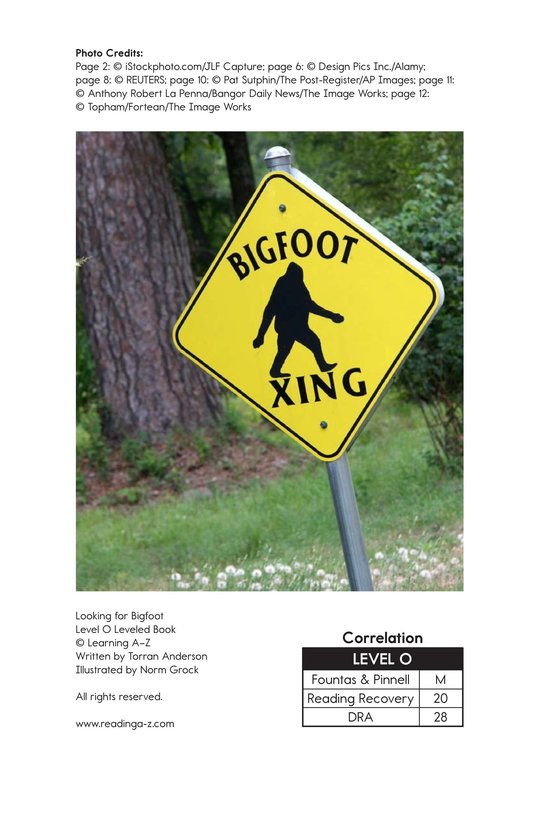 Book Preview For Looking for Bigfoot Page 17