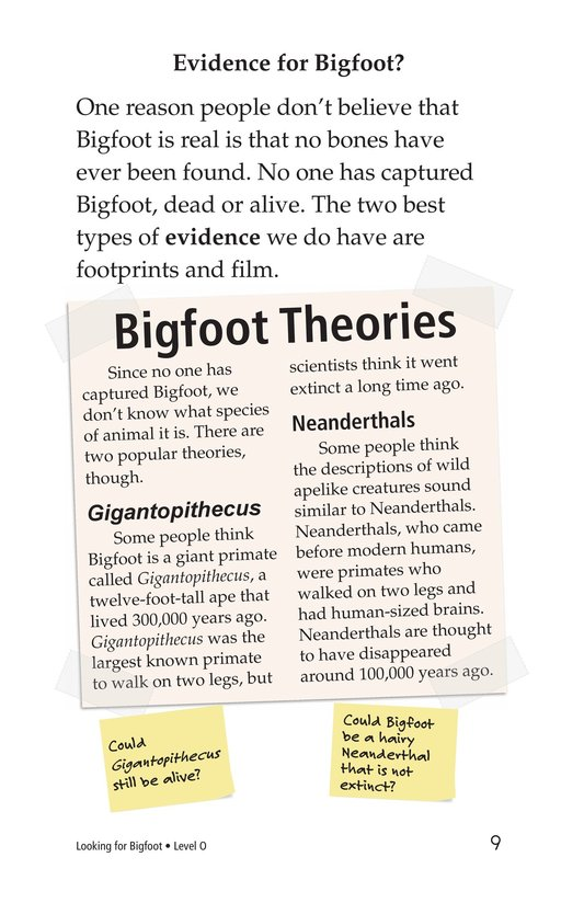 Book Preview For Looking for Bigfoot Page 9