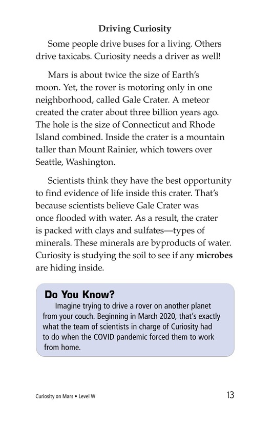 Book Preview For Curiosity on Mars Page 13