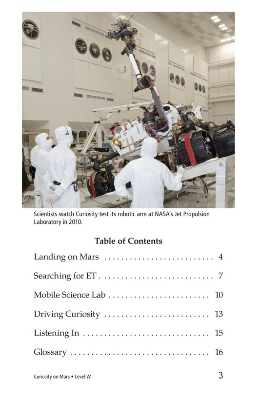 Book Preview For Curiosity on Mars Page 3