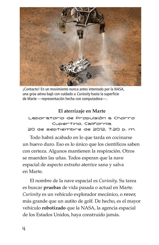 Book Preview For Curiosity on Mars Page 4