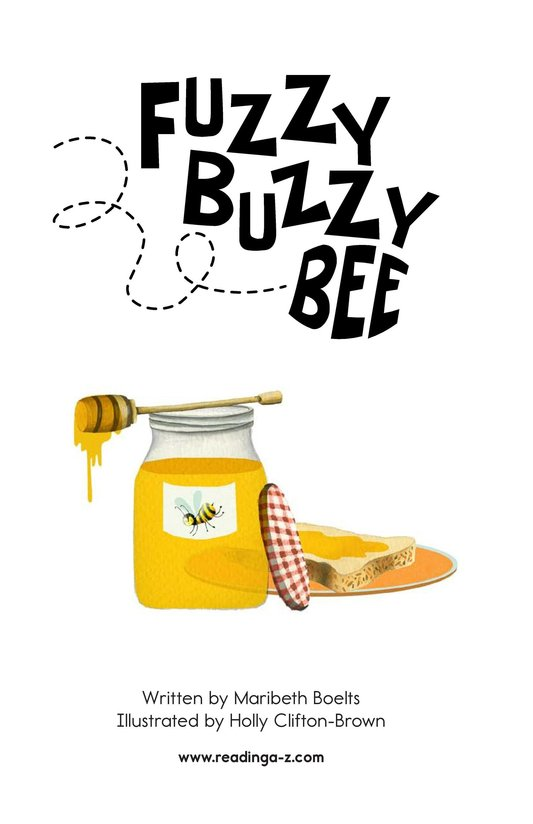 Book Preview For Fuzzy Buzzy Bee Page 2