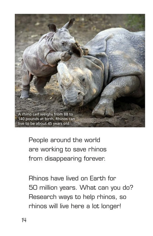 Book Preview For Let's Look at Rhinos Page 14