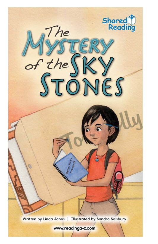 Book Preview For The Mystery of the Sky Stones Page 1