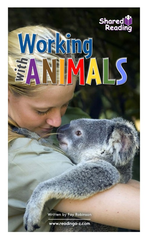 Book Preview For Working with Animals Page 1