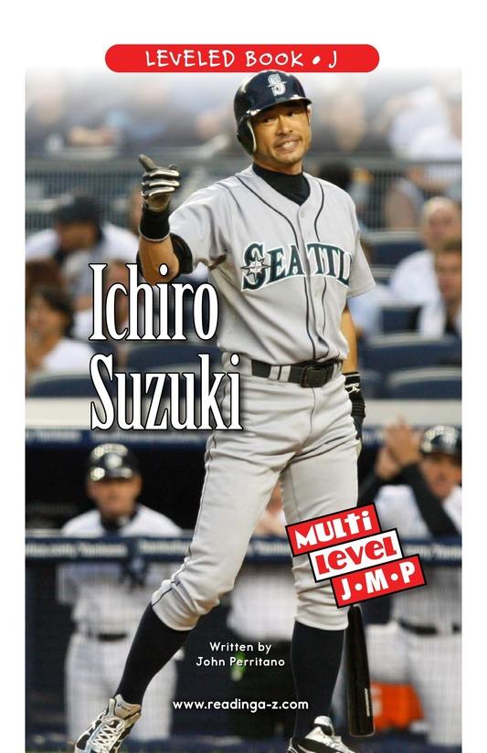 Book Preview For Ichiro Suzuki Page 1