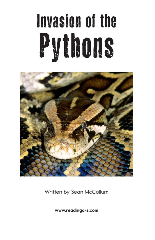Book Preview For Invasion of the Pythons Page 2