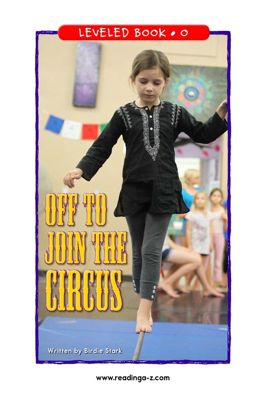 Book Preview For Off to Join the Circus Page 1