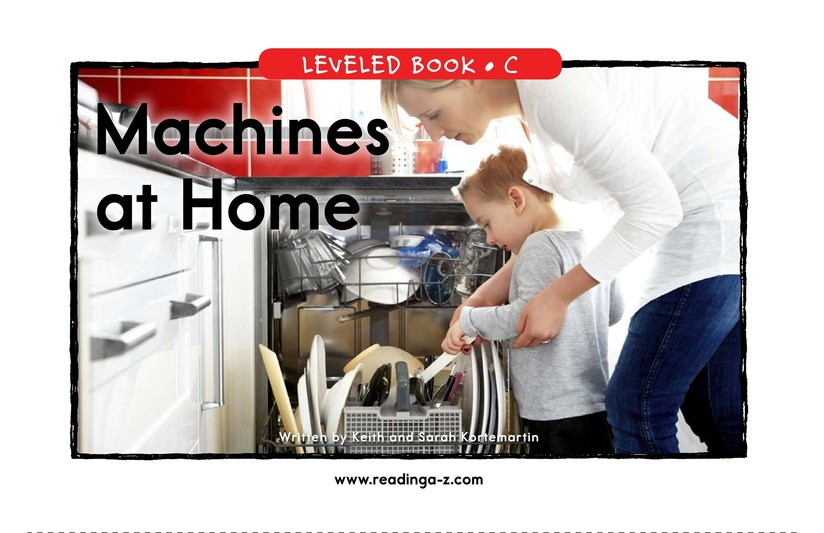 Book Preview For Machines at Home Page 1
