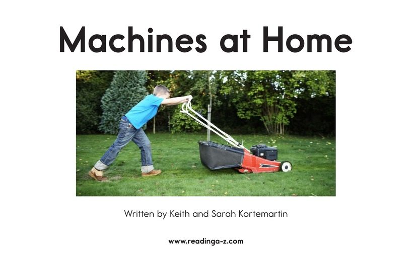 Book Preview For Machines at Home Page 2