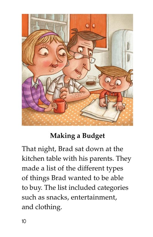 Book Preview For Brad Needs a Budget Page 10