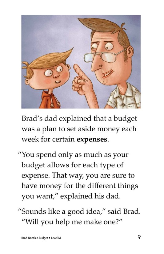 Book Preview For Brad Needs a Budget Page 9