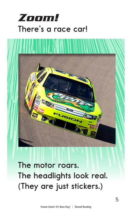 Book Preview For Vroom Zoom! It's Race Day Page 5