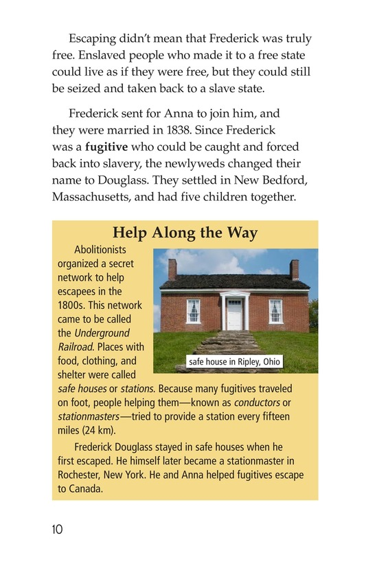 Book Preview For Frederick Douglass: Forever Free Page 10