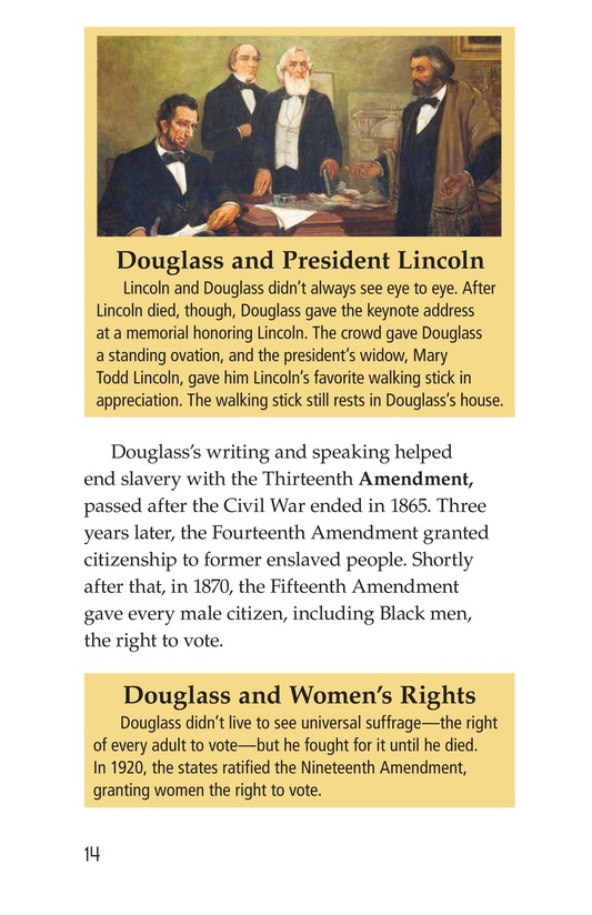 Book Preview For Frederick Douglass: Forever Free Page 14