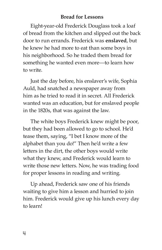 Book Preview For Frederick Douglass: Forever Free Page 4