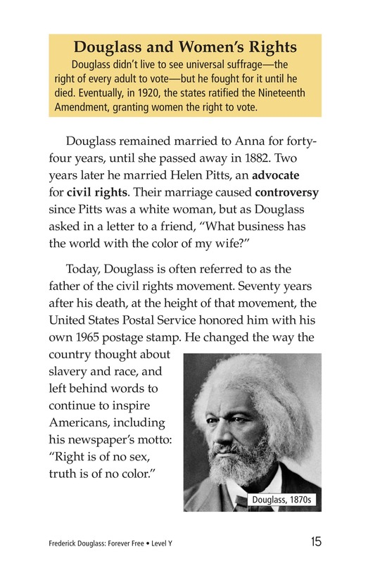 Book Preview For Frederick Douglass: Forever Free Page 15