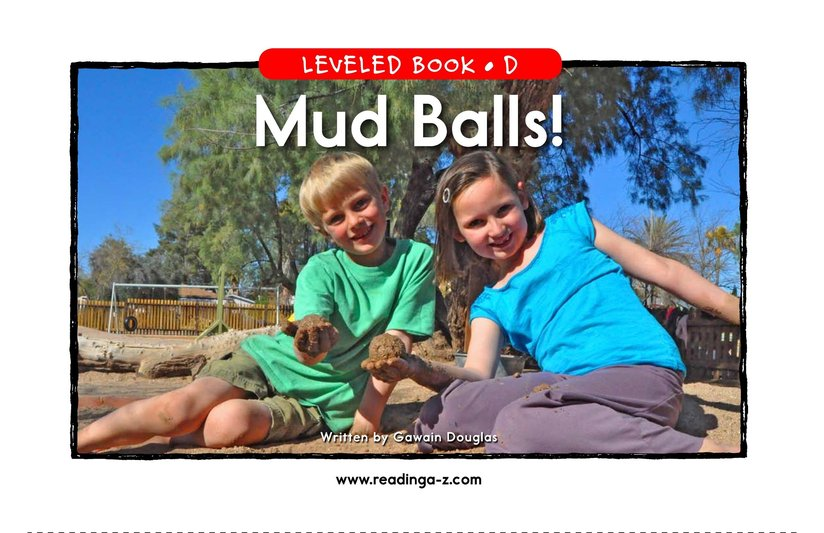 Book Preview For Mud Balls! Page 1
