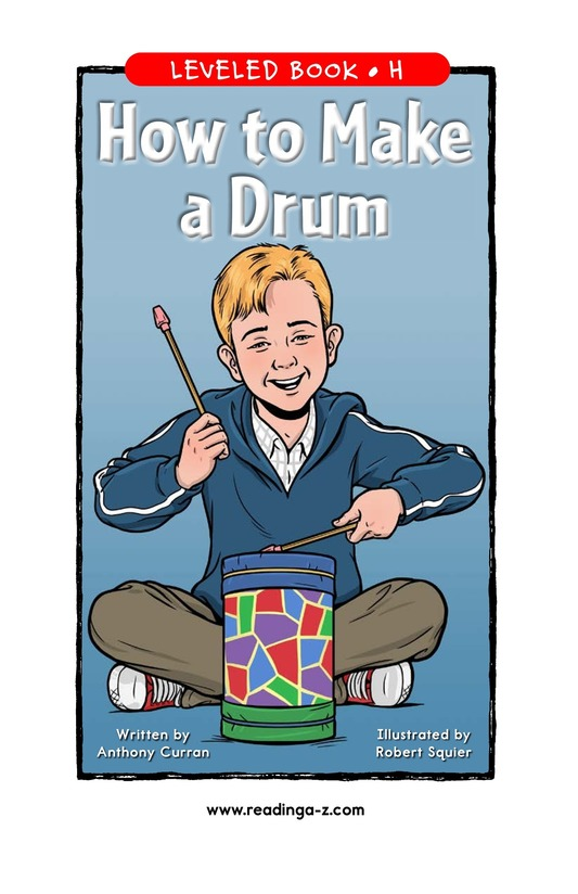 Book Preview For How to Make a Drum Page 1