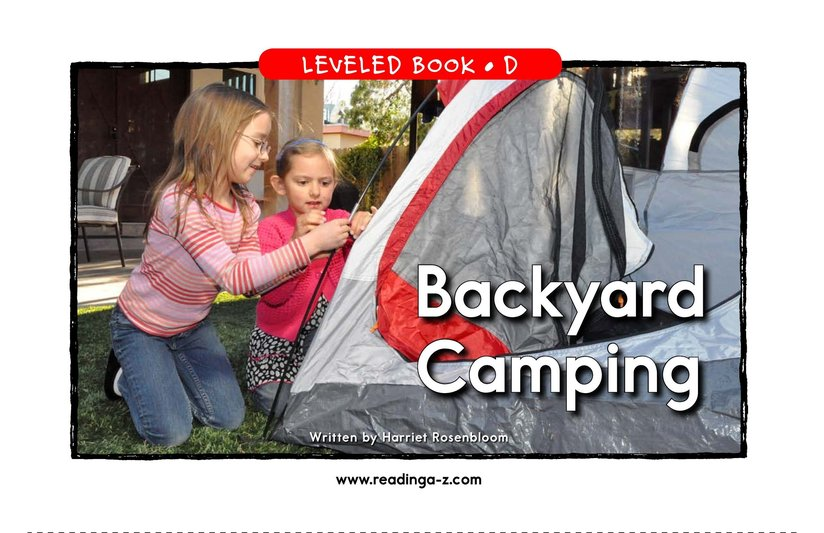 Book Preview For Backyard Camping Page 1