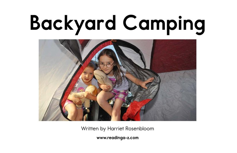 Book Preview For Backyard Camping Page 2
