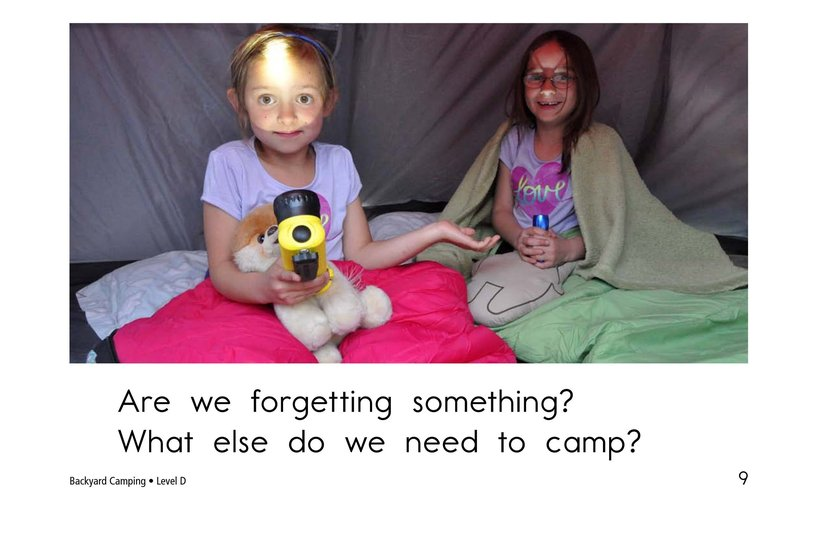 Book Preview For Backyard Camping Page 9