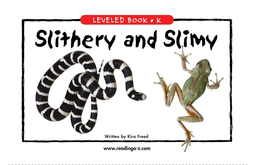 Book Preview For Slithery and Slimy Page 1