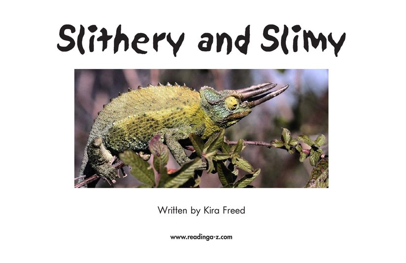 Book Preview For Slithery and Slimy Page 2