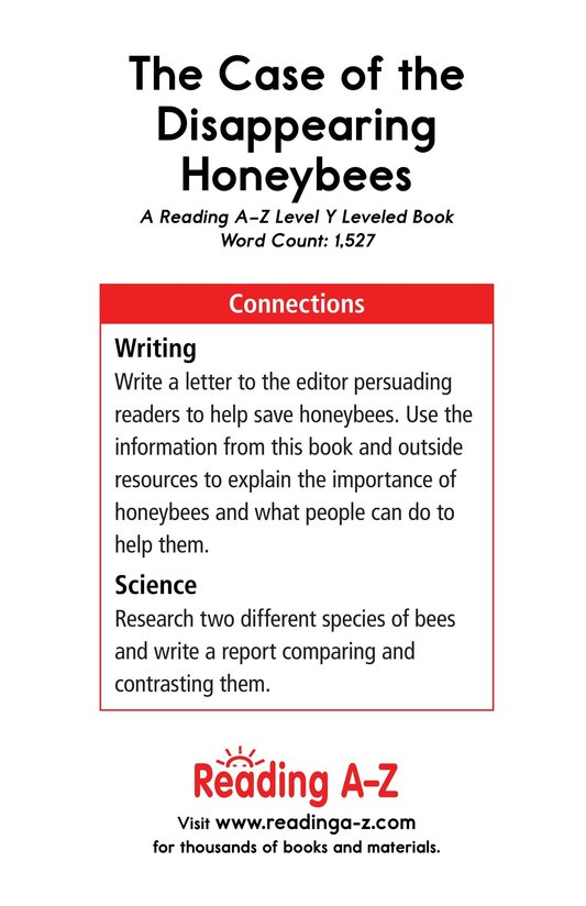Book Preview For The Case of the Disappearing Honeybees Page 17