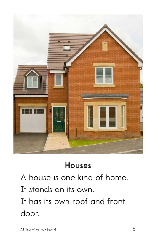 Book Preview For All Kinds of Homes Page 5