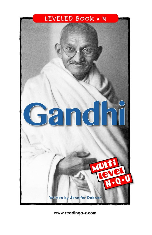 Book Preview For Gandhi Page 1