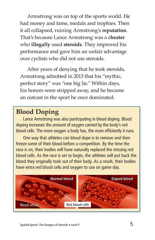 Book Preview For Spoiled Sports: The Dangers of Steroids Page 5