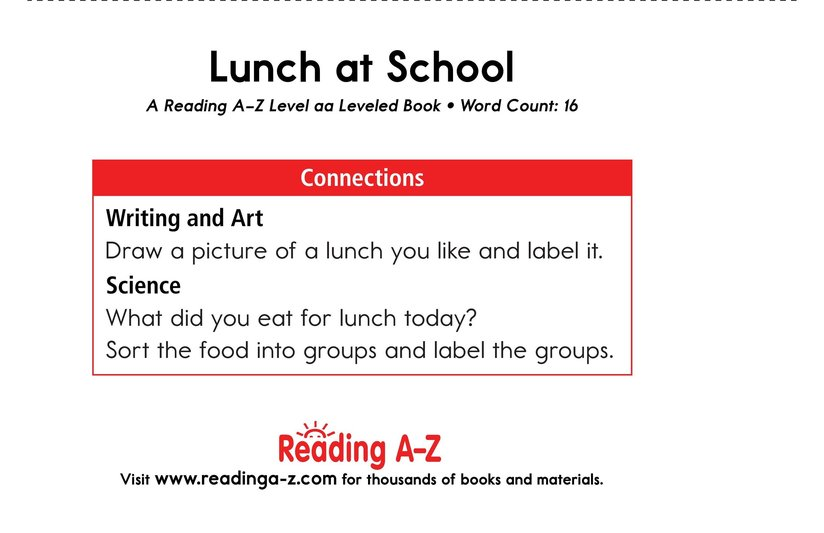 Book Preview For Lunch at School Page 11