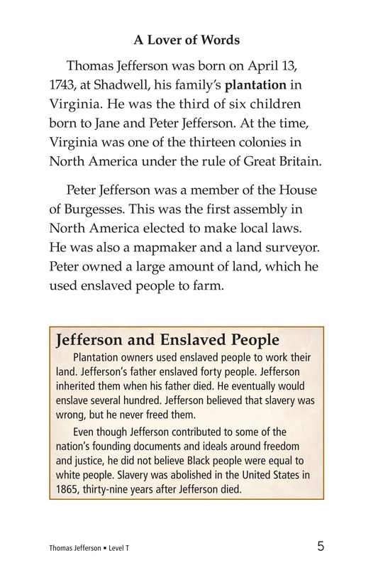 Book Preview For Thomas Jefferson Page 5
