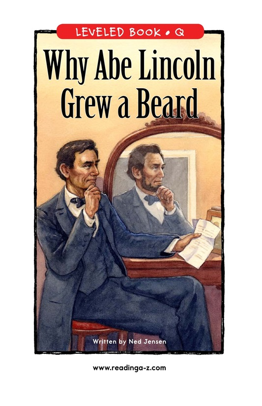 Book Preview For Why Abe Lincoln Grew a Beard Page 1
