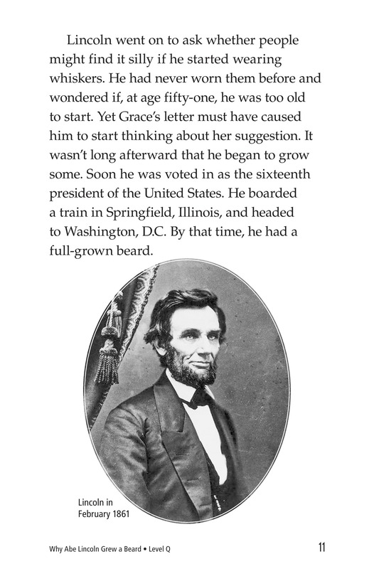 Book Preview For Why Abe Lincoln Grew a Beard Page 11