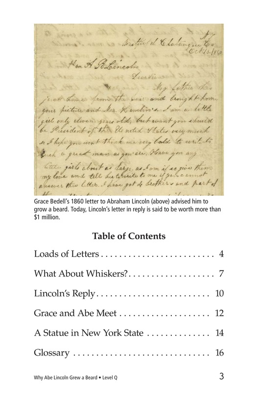 Book Preview For Why Abe Lincoln Grew a Beard Page 3