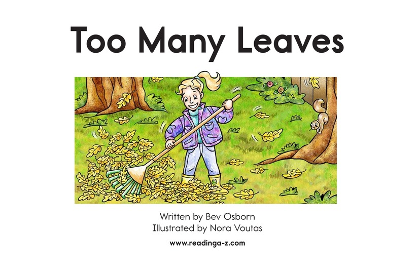 Book Preview For Too Many Leaves Page 2