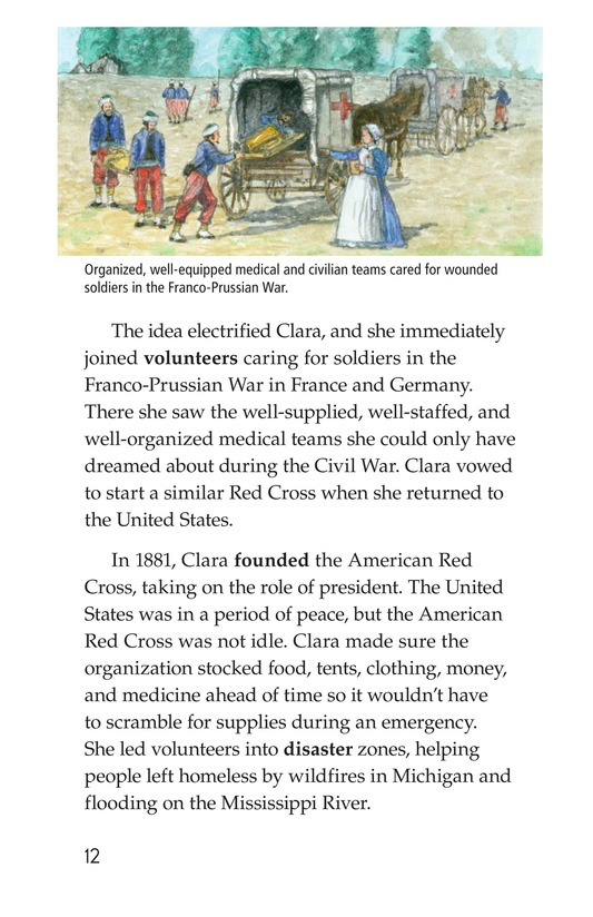 Book Preview For Clara Barton: The Angel of the Battlefield Page 12