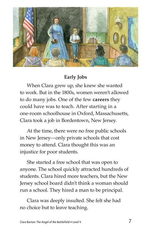 Book Preview For Clara Barton: The Angel of the Battlefield Page 7