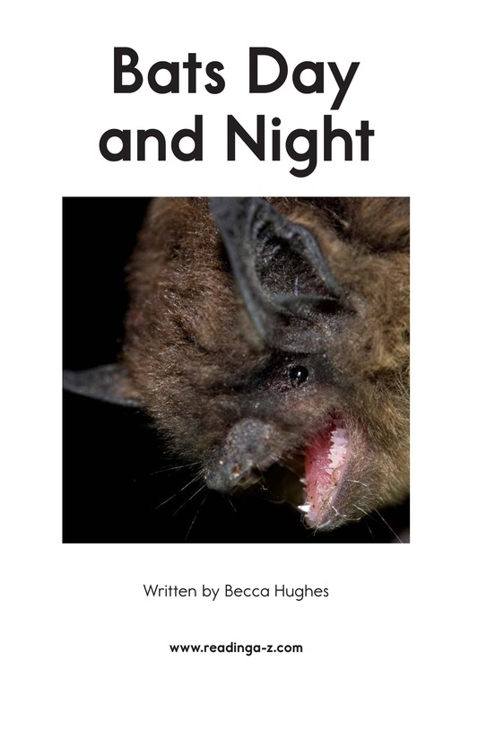 Book Preview For Bats Day and Night Page 2