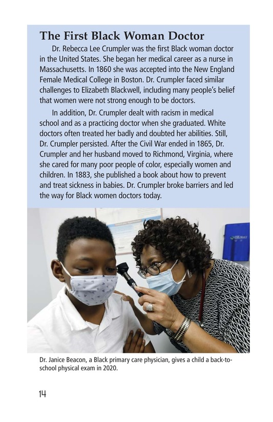 Book Preview For Elizabeth Blackwell: America's First Woman Doctor Page 14