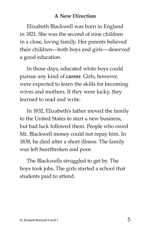 Book Preview For Elizabeth Blackwell: America's First Woman Doctor Page 5