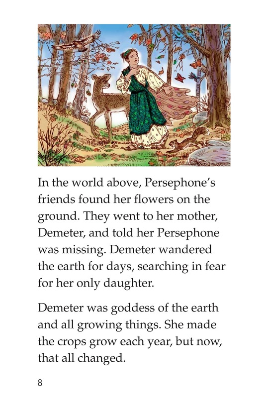 Book Preview For Persephone: A Greek Myth Page 8