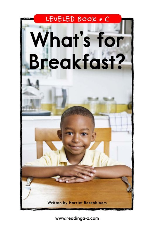 Book Preview For What's for Breakfast? Page 1
