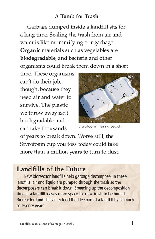 Book Preview For Landfills: What a Load of Garbage! Page 11
