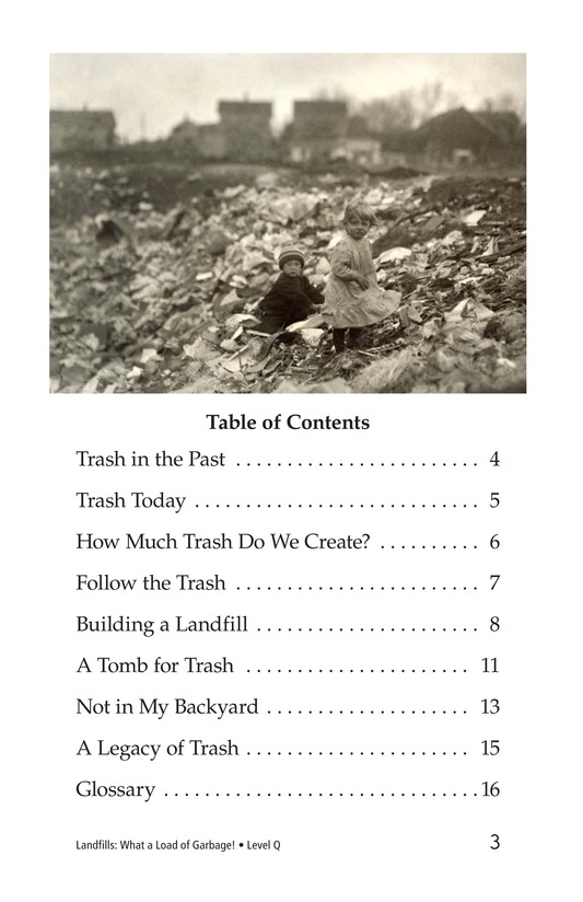 Book Preview For Landfills: What a Load of Garbage! Page 3