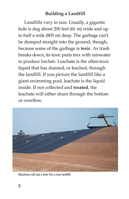 Book Preview For Landfills: What a Load of Garbage! Page 8
