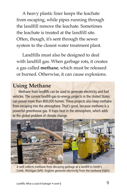Book Preview For Landfills: What a Load of Garbage! Page 9