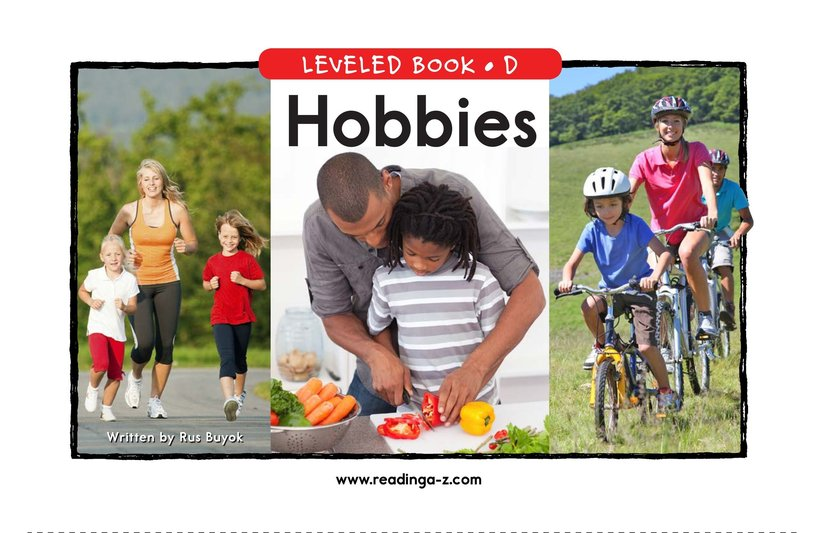 Book Preview For Hobbies Page 1
